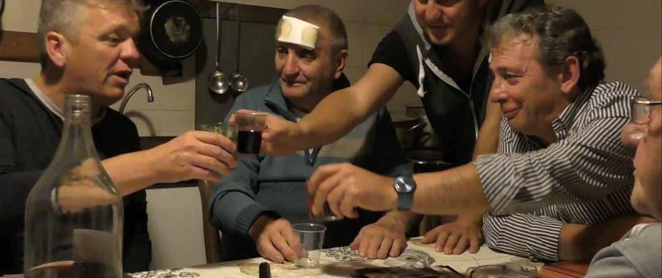 Mario Savelli festeggia insieme a tutto il Gruppo di Ricordi di Palio
