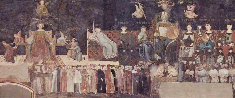 Gli effetti del Buongoverno di Ambrogio Lorenzetti, Palazzo Pubblico, Siena