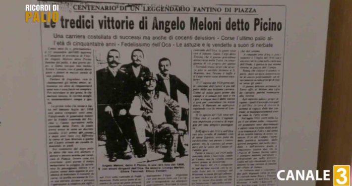 Angelo Meloni detto Picino vinse 13 Palii tra il 1902 e il 1930