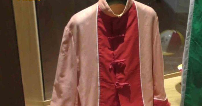 Il giubbetto di Angelo Meloni con cui Picino vinse uno dei quattro Palii per la Contrada di Valdimontone