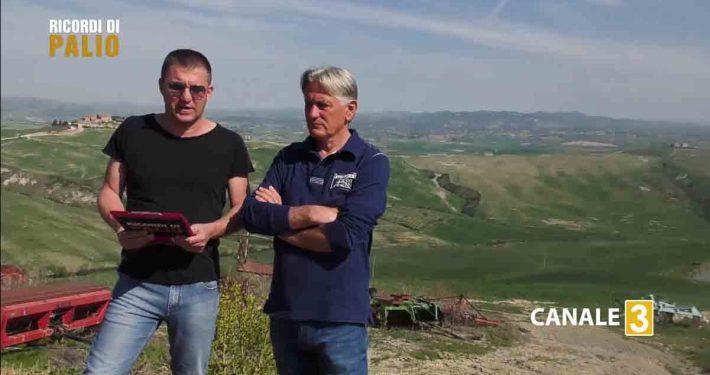 """Michele Fiorini e Silvano Vigni durante l'intervista del Gruppo """"Ricordi di Palio"""""""