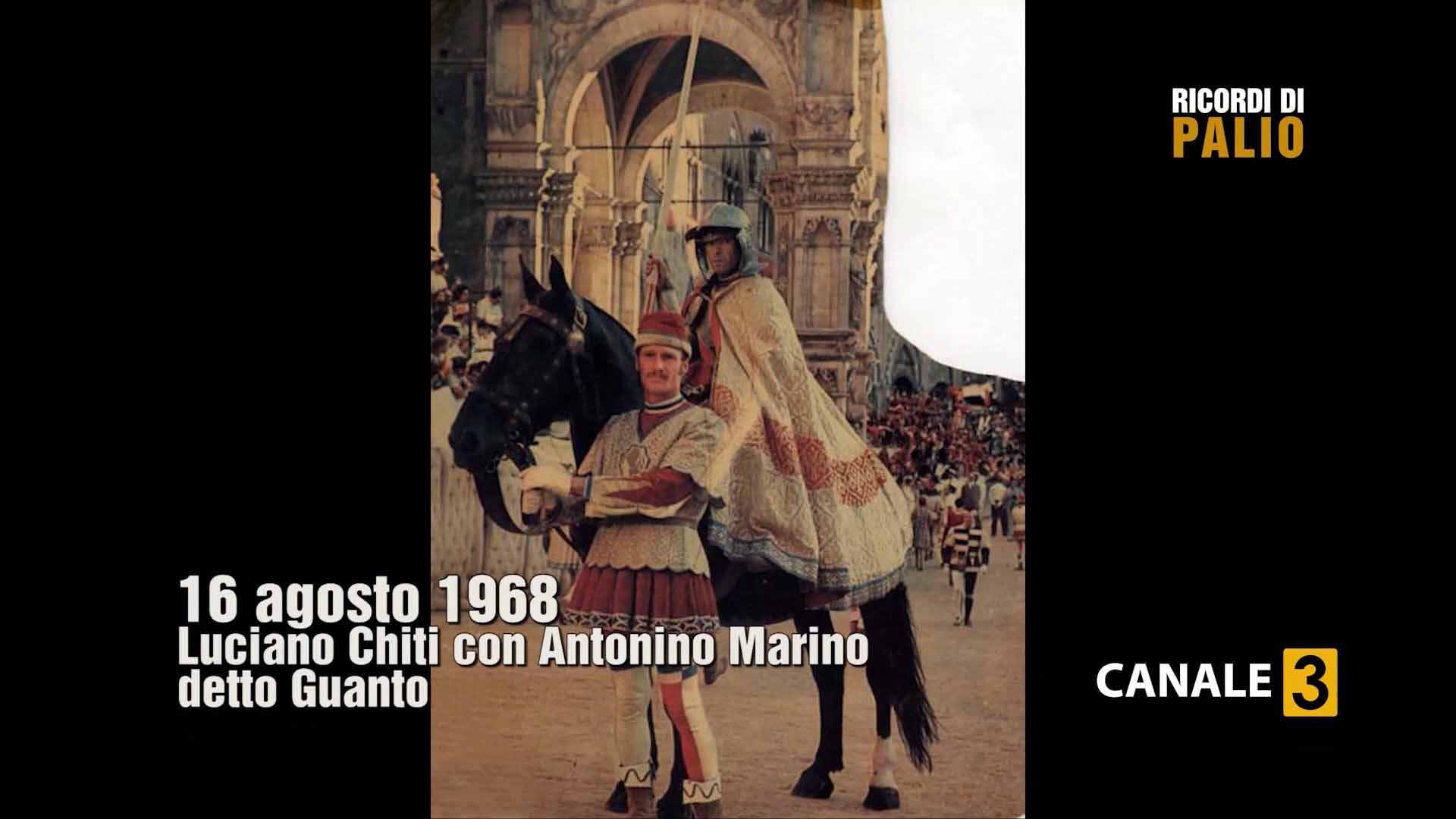 Palio di Siena del 16 agosto 1968 - Luciano Chiti con Antonino Marino detto Guanto