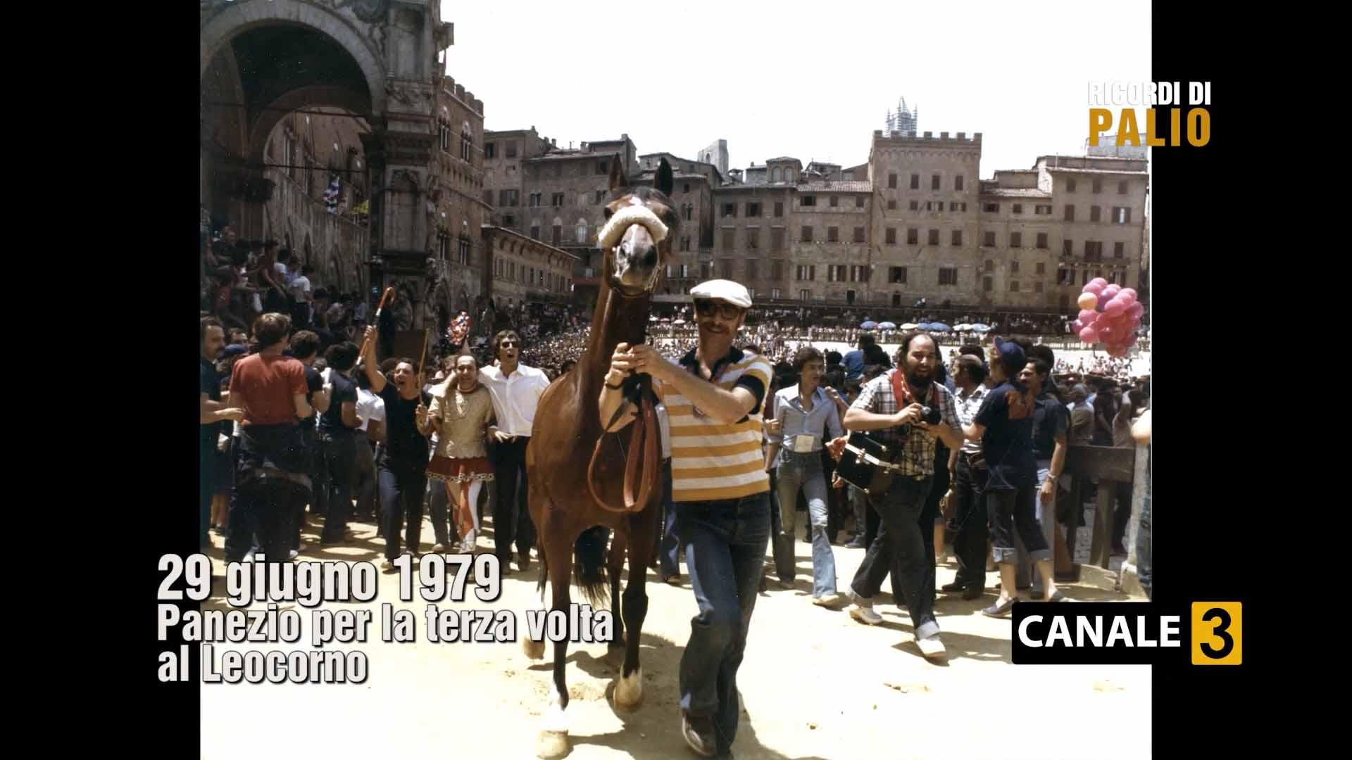 Tratta del Palio del 2 luglio 1979 Panezio nel Leocorno